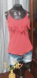 Título do anúncio: Blusa de Alcinha em Crepe Vermelho - M