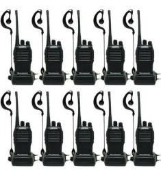 Lote 10 Rádio Comunicador Baofeng WalkTalk bf-777s