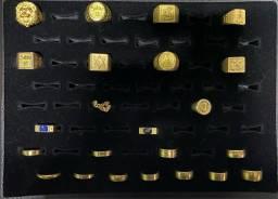 Variadas de anéis de moedas antiga
