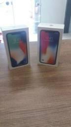 IPhone X 64gb cores preto e silver lacrados com garantia Apple top