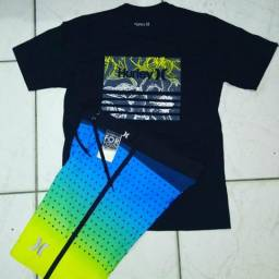 Kit Camisa + Bermuda Elastano