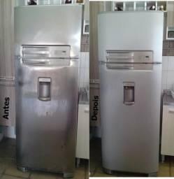 Adesive sua geladeira - não jogue sua geladeira antiga fora