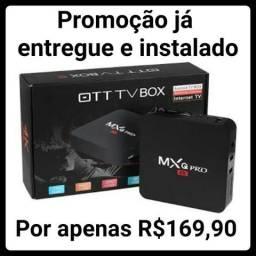 TvBox MXR pro, SmartTv, Hdmi, entregamos e instalamos sem taxa adicional