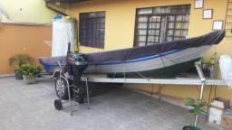 Barco e motor conjunto completo, semi novo , oportunidade - 1998