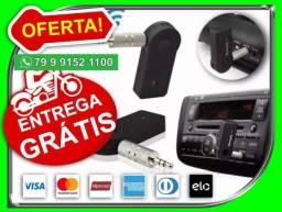 Receptor Áudio Bluetooth Wireless P/carros Som Musica P2 Aux nos paggamos o motoboy