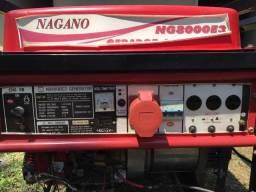 Gerador Nagano Trifásico 8kva gasolina partida elétrica