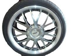 Jogo de Rodas TSW Kyalami aro 17 com pneus 4x100 e 4x108