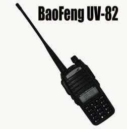 Rádio Baofeng Ht Dual Band Uv-82 Bateria 5000mh 8w + Fone