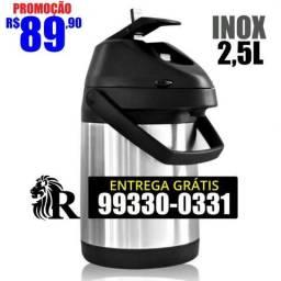Garrafa térmica em Inox 2,5L (Entrega Grátis)