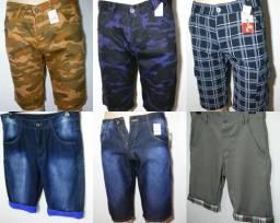 Bermuda jeans e sarja masculina NOVA passo cartão e parcelo
