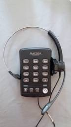 Headset com Telefone Analógico Practica T110