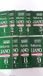 Curso de Italiano Top Level - Editora Globo - 9 Livros e K7- Completo!
