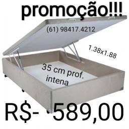 Baú grande !!!! 35 cm prof interna !!!! Maior espaço interno do mercado!!!