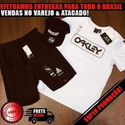 Kit: Camiseta Masculina Estampa + Short De Moletom + Boné - Seja Revendedor DropShipping