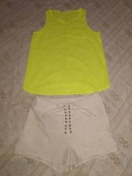 Short H & M 6 Usa e Camisa P.S. Aeropostale Teen PP adulto Ler tudo <br>