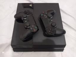 PS4 FAT 500 GB 2 CONTROLES E 7 JOGOS