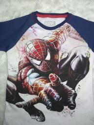 Kit 3 camisetas infantil super heróis!!!