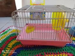 Gaiola pequena para hamsters (excelente para viagens)+ bolinha para brincar fora da gaiola