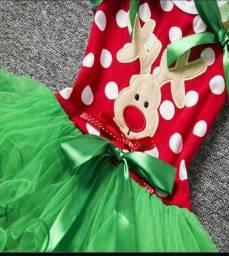 Vestido infantil de natal 3 modelos