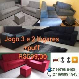 Jogo de sofá 3/2 lugares DIRETO DA FÁBRICA