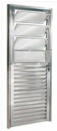 Porta basculante alumínio brilhante (NOVA )
