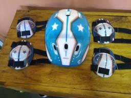 Capacete Kit De Proteção Infantil Masculino Es104 - Atrio