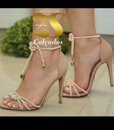 Sandália Nude corda super elegante
