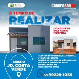 Título do anúncio: Casa Nova no Jardim Costa Verde em VG  - Entrada parcelada.