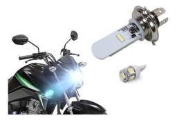 Lâmpada Led H4 Moto Super Branco Universal 8000k 12v