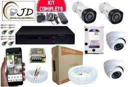 Câmeras sm taxa ne mensualidade kit completo instalado+Aplicativo acesso no celular Grátis
