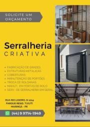 Serralheria Criativa - Serviço de serralheria em geral.