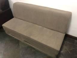 Sofá-cama de 3 lugares sem braço