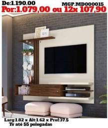 Painel de televisão até 55 Plg-Painel Grande- Sala de Estar- Saldão em MS