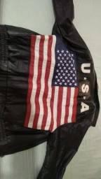 Jaqueta de couro USA MilWaukee importada