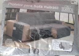 CAPA / PROTETOR DE SOFÁ RETRÁTIL COM PORTA CONTROLES