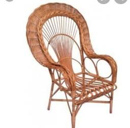 Cadeiras de fibras pavão