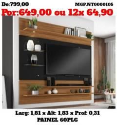 Painel de televisão até 60 Plg- Sala de Estar- Painel de TV- Prorrogado Desconto em MS