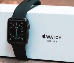 Apple Watch Série 3 42mm Alumínio, A prova D'água, GPS, Novo, Caixa, NF, Gar Apple, Troco!