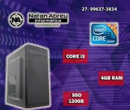 Computador Core i3 Home Basics 4GB + SSD 120gb Garantia de 1 ANO  - Loja Natan Abreu