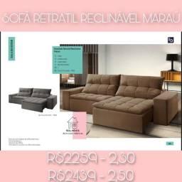 Sofá retrátil reciclável Maraú 2,50