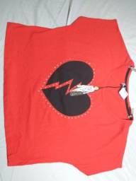 blusinha tipo clopped  algodão  Marisa    Nº  M  e G vermelha