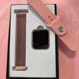 Smartwatch Relógio Inteligente Fitness Aço P80 Tfit + Pulseira de brinde Silicone