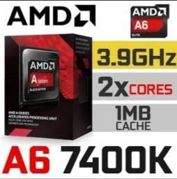 Processador A6 7400k fm2+ e cooler box