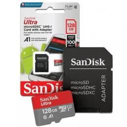 Micro Cartão Sd 128Gb Sandisk Classe 10 80mbs