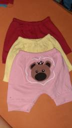 Kit short baby menina