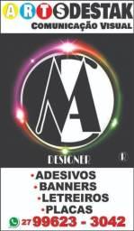 Placas, Banners, Adesivos, Letreiros