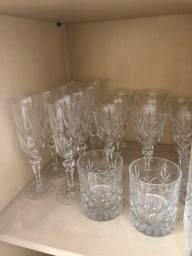 Cristal original conjuntos completo de taças de cristal