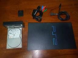 PS2 FAT COM MODEM E HD COM 40 JOGOS