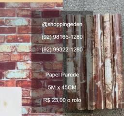 Bom dia Manaus, papel parede adesivo promoção 5 metros