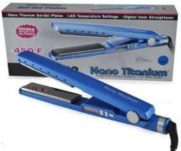 Prancha de cabelo LavinnHair Pro Elo Titanium azul 110V/220V - Loja Natan Abreu